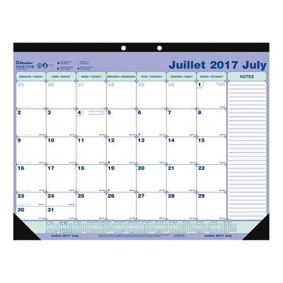 Academic Weekly Desk Pad Calendar (2018-2019)