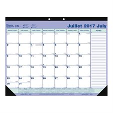 Academic Weekly Desk Pad Calendar (2017-2018)
