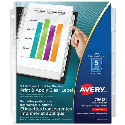 Index Maker Label Pocket Dividers