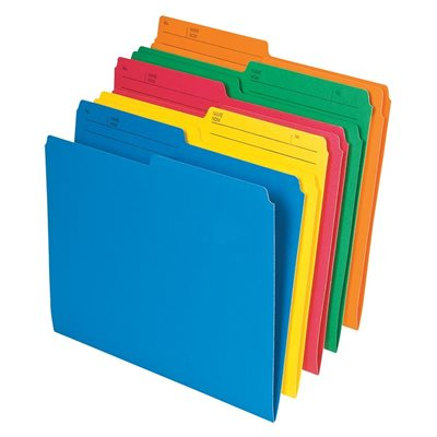 Coloured Reversible File Folders