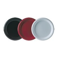 "PLATE SOLO POLY 9"" ROUND  25 / P RED"