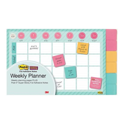 "POST-IT PLANNER ADH WEEKLY 18""X12"""