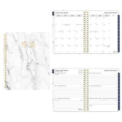 Marble Academic Weekly / Monthly Planner (2019-2020)